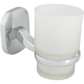 Стакан подвесной для зубных щёток Mr Penguin «Квадрат», металл, цвет хром