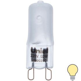 Лампа галогенная Uniel G9 60 Вт свет тёплый белый