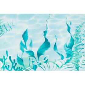 Декор «Лагуна ВС7ЛГ606» 24.9х36.4 см цвет голубой