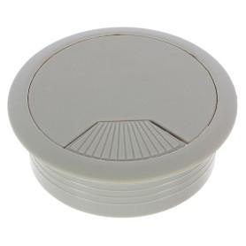 Заглушка кабель-канала Jet d60 мм пластик, цвет серый