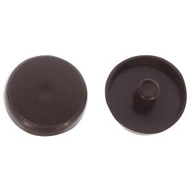 Заглушки рамного дюбеля Element 15 мм пластик цвет темно-коричневый, 35 шт.