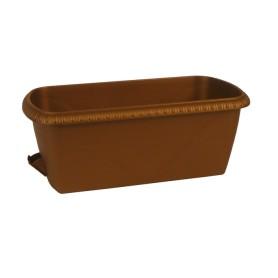 Ящик балконный Жардин 40x20x15 см v12 л пластик коричневый