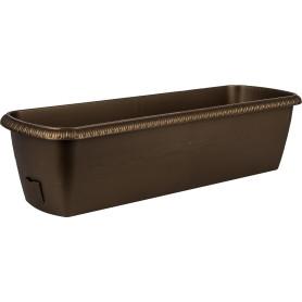 Ящик балконный Жардин 60x20x15.5 см v18 л пластик коричневый
