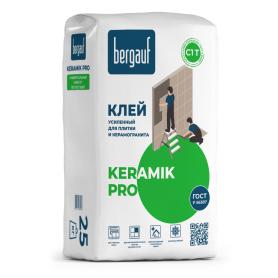 Клей для керамической плитки усиленный Bergauf Keramik Pro 25 кг
