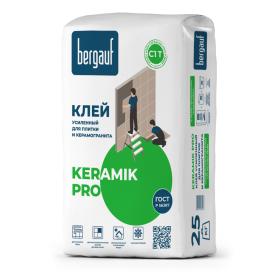Клей для керамической плитки усиленный Bergauf Keramik Pro, 25 кг