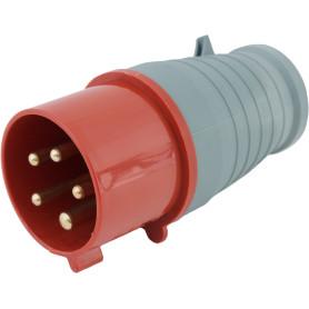 Вилка с заземлением IEK ноль 380 В цвет красный