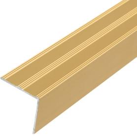 Угол алюминиевый 169, 1 м, цвет золото