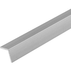 Уголок алюминиевый 20х10х1.2 мм, 1 м, цвет серебро