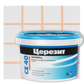 Затирка цементная Ceresit СЕ 40 водоотталкивающая 2 кг цвет персик