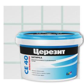 Затирка цементная Ceresit СЕ 40 водоотталкивающая 2 кг цвет мята