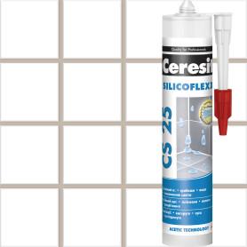 Затирка силиконовая Ceresit CS 25, 280 мл, цвет бежевый