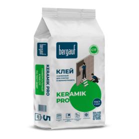 Клей для керамической плитки усиленный Bergauf Keramik Pro, 5 кг