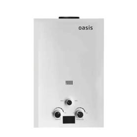 Колонка газовая Oasis, 44х30х12 см, 6 л/мин, цвет белый
