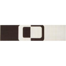 Бордюр Golden Tile «Вельвет» 25х6 см цвет коричневый