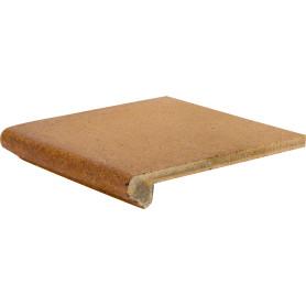 Угловая ступень Gresan Natural Cartabon Fiorentino 33х33х5 см клинкер цвет коричневый