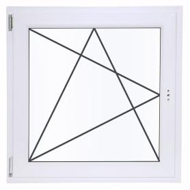 Окно ПВХ одностворчатое 90(87)х90 см поворотно-откидное левое однокамерное