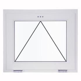 Окно-фрамуга ПВХ 67(64)х87 см двухкамерное