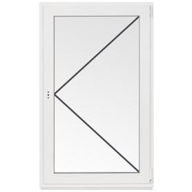 Окно ПВХ одностворчатое 110х70 см поворотное правое однокамерное