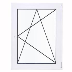 Окно ПВХ одностворчатое 130(127)х80 см поворотно-откидное правое однокамерное