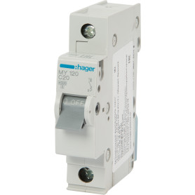 Выключатель автоматический Hager 1 полюс 20 A