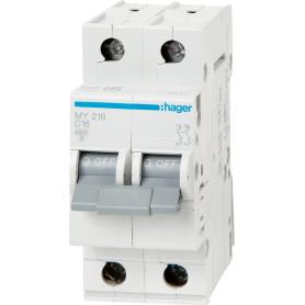 Выключатель автоматический Hager 2 полюса 16 A