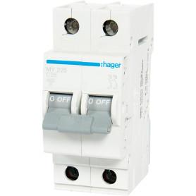 Выключатель автоматический Hager 2 полюса 25 A