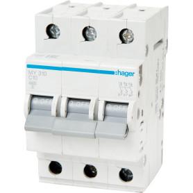 Выключатель автоматический Hager 3 полюса 10 A