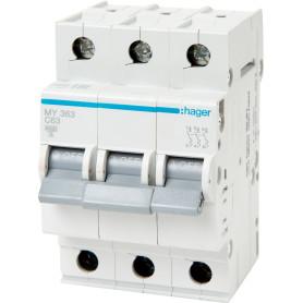 Выключатель автоматический Hager 3 полюса 63 A