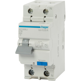 Автомат дифференциальный Hager 2 полюса 16 А