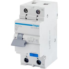 Автомат дифференциальный Hager 2 полюса 25 мА