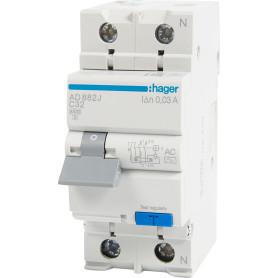 Автомат дифференциальный Hager 2 полюса 32 А