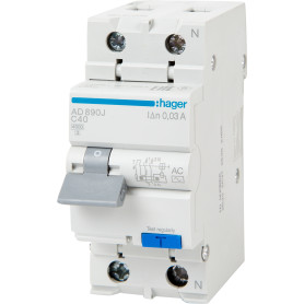 Автомат дифференциальный Hager 2 полюса 40 А