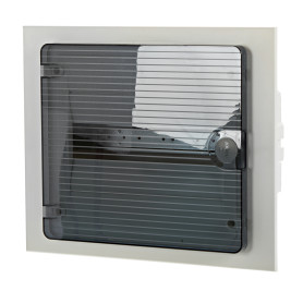Щит пластиковый в нишу Hager Golf на 12 модулей, с прозрачной дверью