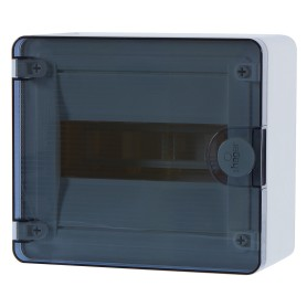 Щит пластиковый на стену Hager Golf на 8 модулей, с прозрачной дверью