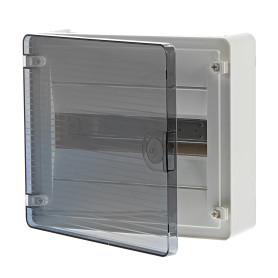 Щит пластиковый на стену Hager Golf на 12 модулей, с прозрачной дверью