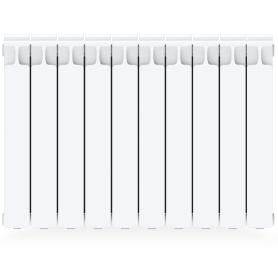 Радиатор Rifar Monolit 500, 10 секций, боковое подключение, 500 мм, цвет белый, биметалл