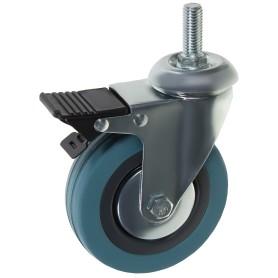 Колесо 100 мм М12 поворотное с тормозом