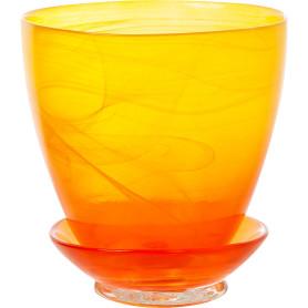 Горшок цветочный «Современный» D13, 0, 8л., стекло, Жёлтый / золотой