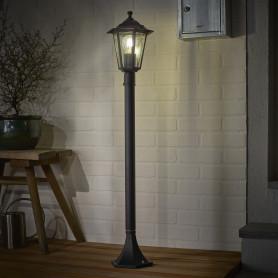 Столб уличный Inspire Peterburg 1xE27х60 Вт, 1 м, алюминий/сталь, цвет чёрный