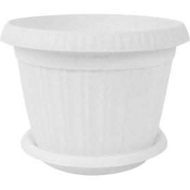 Горшок цветочный D28, 7, 2л., пластик, Серый / Серебристый