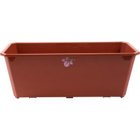 Ящик балконный 40х17х15 см, 7л, пластик, Коричневый