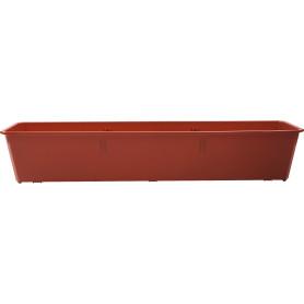 Ящик балконный Ingreen 80x17x15 см v12.5 л пластик терракотовый