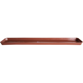 Поддон для балконного ящика, 13.8х2.4х40 см, полипропилен, цвет терракотовый
