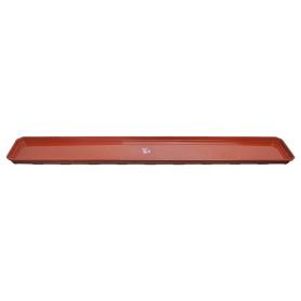 Поддон для балконного ящика, 100 см, полипропилен, цвет терракотовый