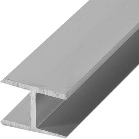 Двутавр алюминиевый 18х13х18х1,5 мм, 1 м, цвет серебро