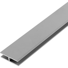 Двутавр алюминиевый 25х8х25х1,5 мм, 1 м, цвет серебро