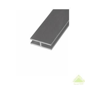 Двутавр алюминиевый 25х13х25х1,5 мм, 2 м, цвет серебро