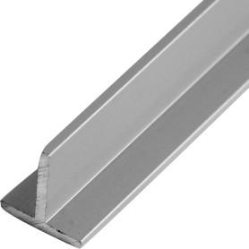 Тавр алюминиевый 15х15х2 мм, 1 м, цвет серебро