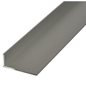 Уголок алюминиевый 50х20х2 мм, 2 м, цвет серебро