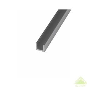 Швеллер алюминиевый 15х20х15х2 мм, 1 м, цвет серебро